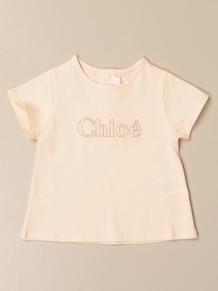 Chloé: Chloé t-shirt in basic cotton with logo