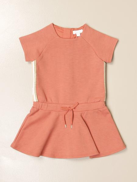 Chloé: Chloé short dress in cotton with bands