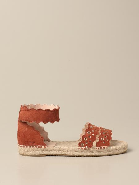 Chloé: Chloé sandal in suede with sails