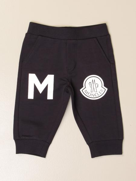 Moncler jogging trousers in cotton with logo