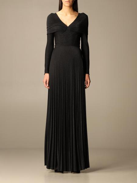 Elisabetta Franchi long dress in lurex fabric
