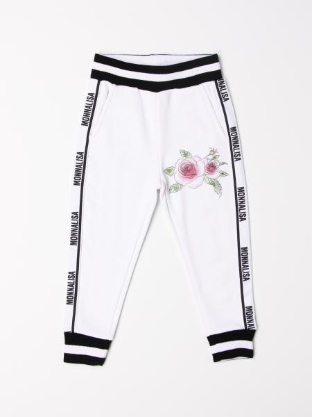 Monnalisa jogging pants with logoed bands