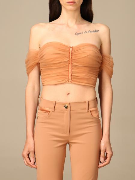 Elisabetta Franchi women: Elisabetta Franchi bodice in draped tulle