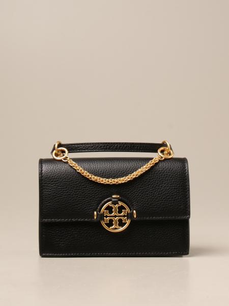 Tory Burch: Tory Burch leather crossbody bags with crest