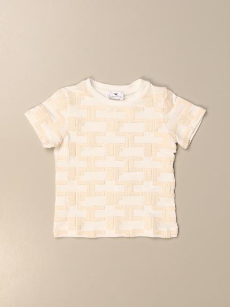 T-shirt Elisabetta Franchi in cotone con logo all over