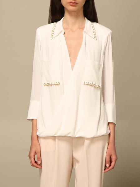 Elisabetta Franchi donna: Camicia Elisabetta Franchi in georgette di viscosa