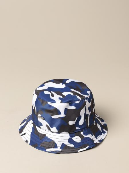 Emporio Armani fisherman hat with camouflage pattern