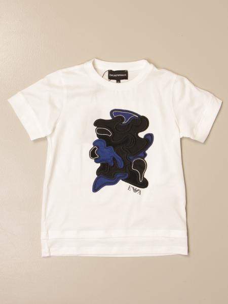 Emporio Armani T-shirt in stretch cotton with embroidery