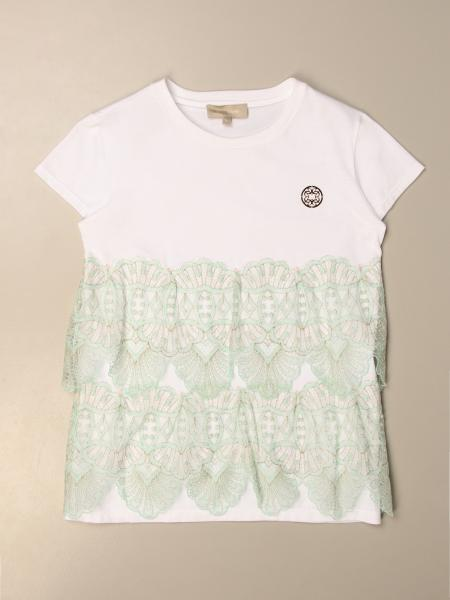 Elie Saab: Elie Saab T-shirt in cotton and lace
