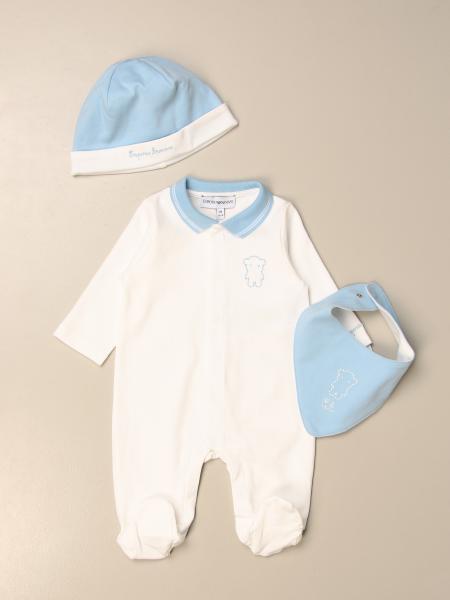 Emporio Armani onesie + hat + bib set