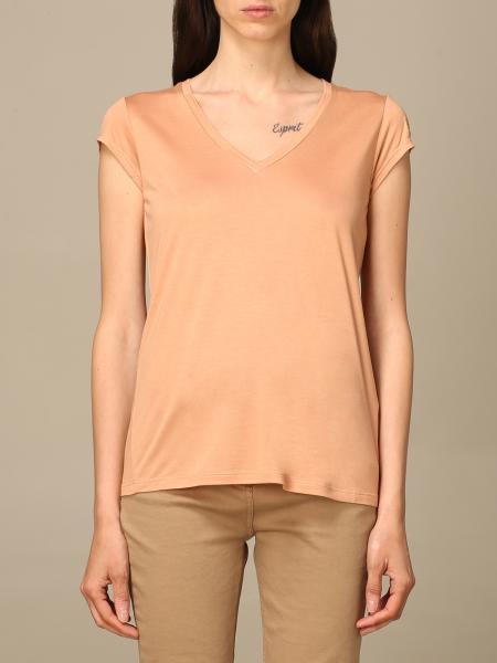 Elisabetta Franchi women: Elisabetta Franchi v-neck t-shirt