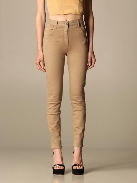 Elisabetta Franchi women: Elisabetta Franchi high-waisted jeans