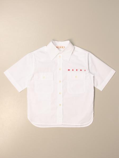 Marni: Marni shirt in cotton with short sleeves