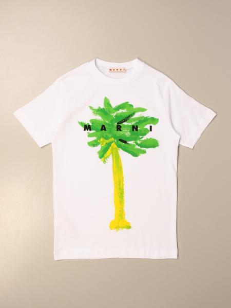 Marni: Marni t-shirt dress in cotton with print