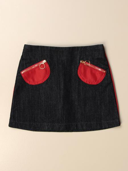 Marni: Marni denim skirt with patch pockets and zip