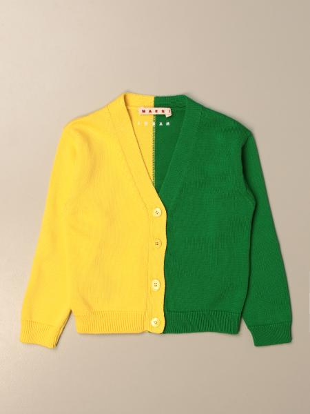 Two-tone Marni v-neck cardigan