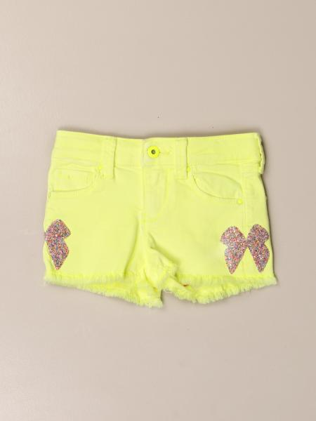 Billieblush: Billieblush 5-pocket shorts with bows