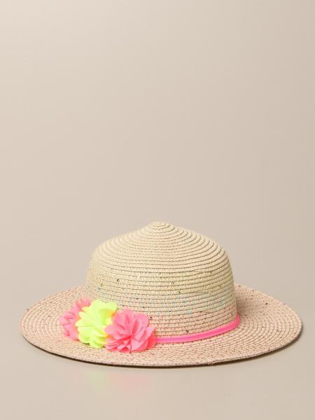 Billieblush: Billieblush raffia hat with floral applications