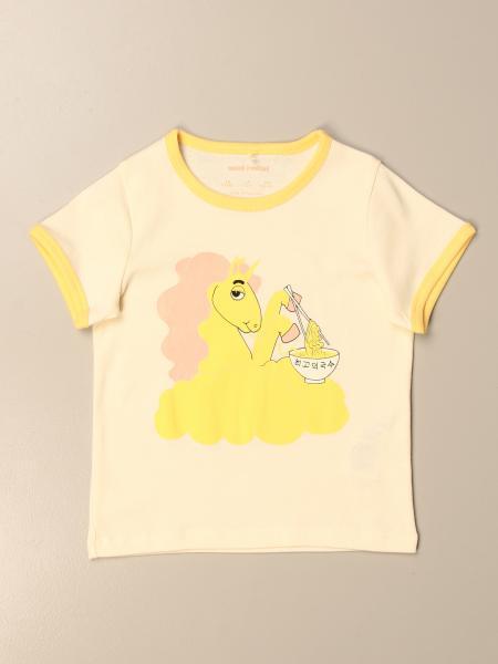 T-shirt Mini Rodini in cotone con stampa