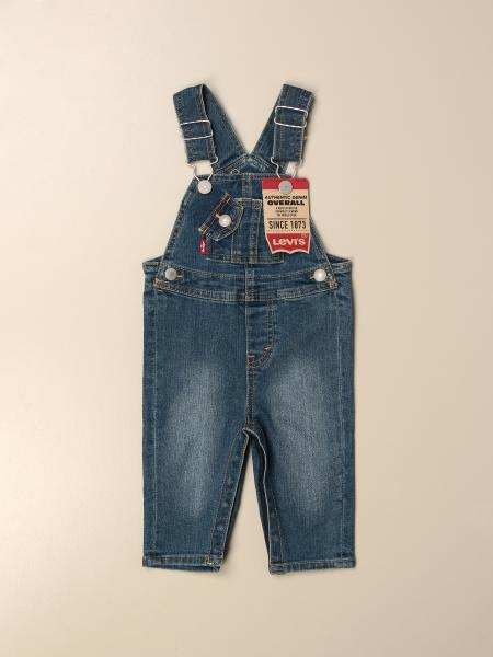 Salopette di jeans Levi's in denim washed