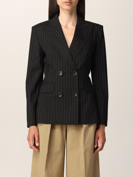 Max Mara pinstripe double-breasted jacket