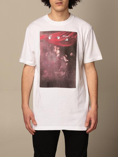 Off White cotton t-shirt with arrow print
