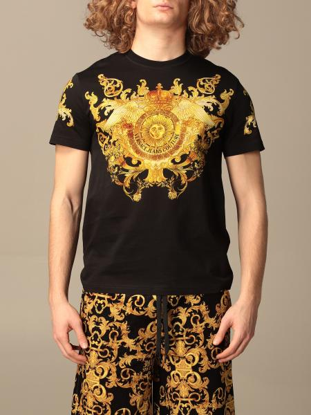Versace Jeans Couture uomo: T-shirt Versace Jeans Couture con stampa rococo