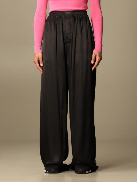 Balenciaga: Pantalone jogging Balenciaga in seta