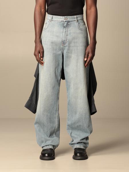 Balenciaga: Jeans Balenciaga over con camicia cucita sul retro