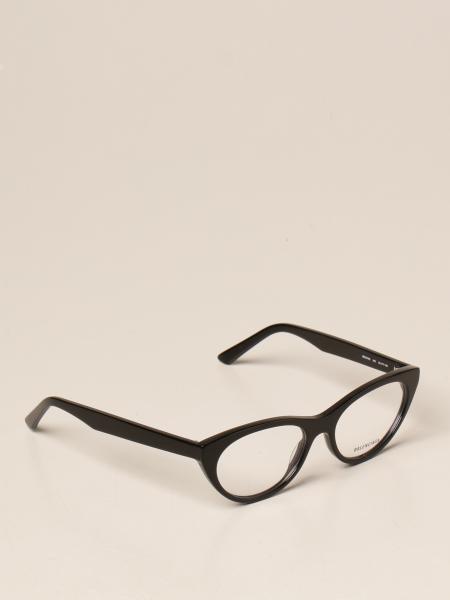 Balenciaga: Occhiali da vista Balenciaga in acetato con logo all over