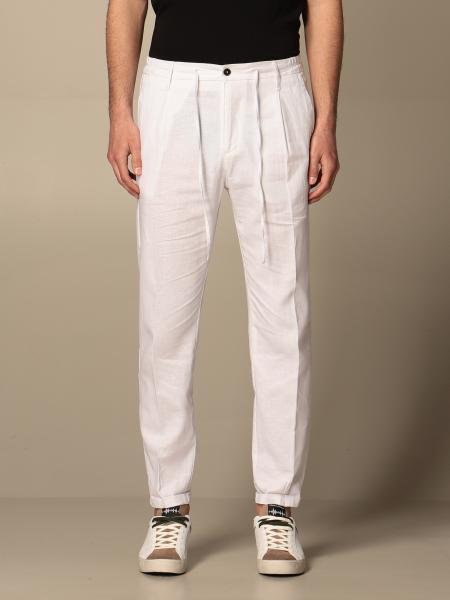 Pantalone Daniele Alessandrini in misto lino