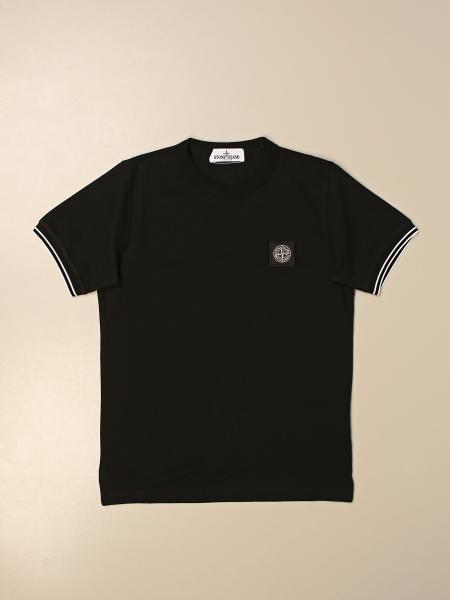 Stone Island Junior cotton t-shirt with logo