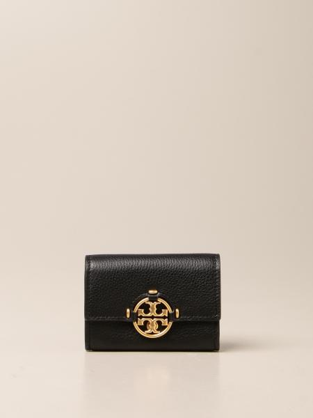 Tory Burch: Tory Burch wallet in textured leather