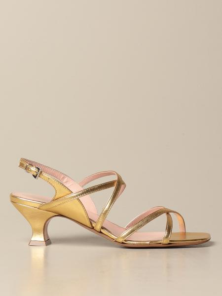 Anna F.: Anna F. sandals in laminated leather
