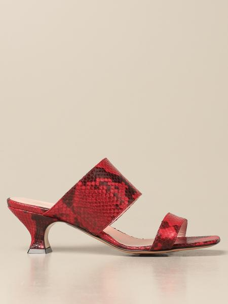 Anna F.: Anna F. leather sandals with python print