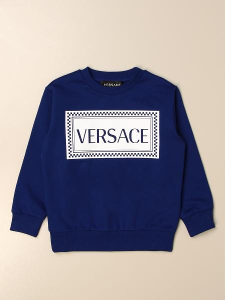 Young Versace: Felpa a girocollo Versace Young con big logo