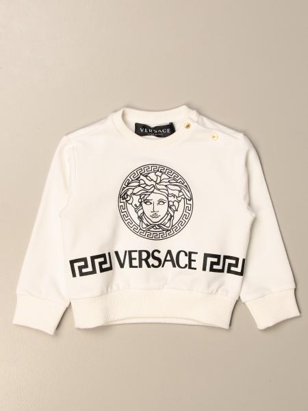 Young Versace: Felpa a girocollo Versace Young con testa di medusa