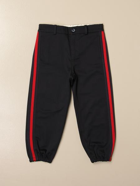 Gucci: Pantalone Gucci in cotone con bande