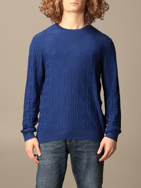 Emporio Armani crewneck sweater with all-over embossed logoZ