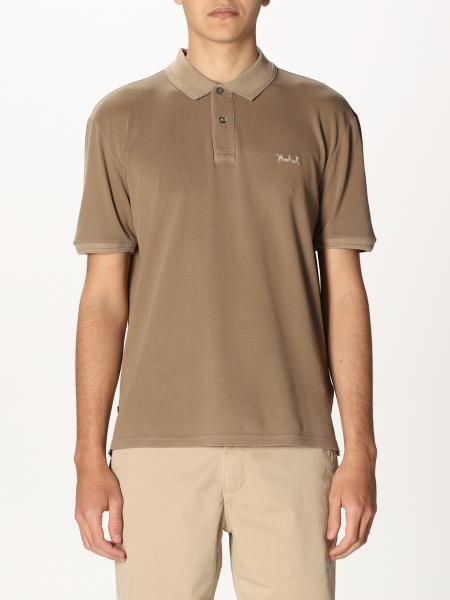 Polo Woolrich in cotone piqué con logo