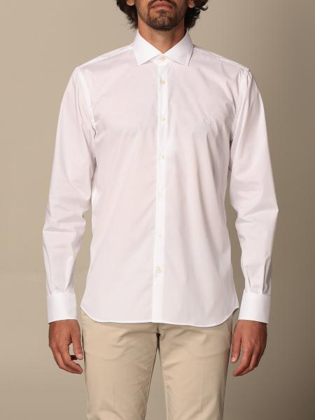 Brooksfield shirt in stretch cotton with logo