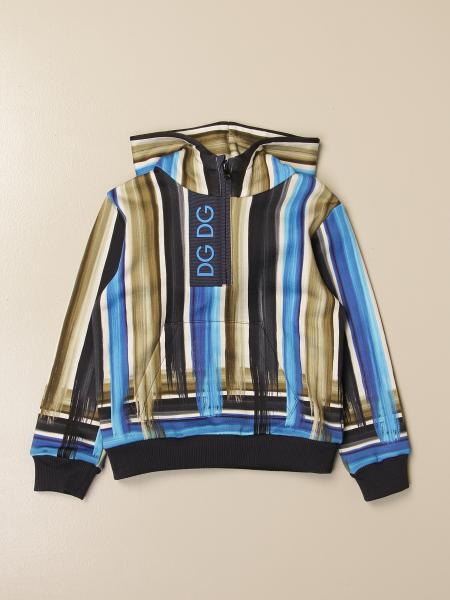 Dolce & Gabbana hooded sweatshirt in printed cotton