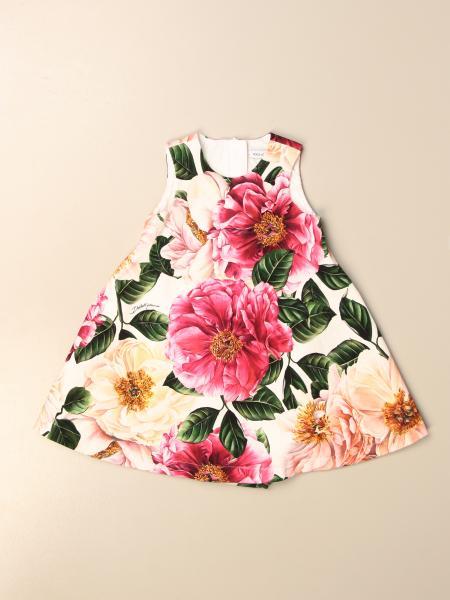 Abito corto Dolce & Gabbana a fantasia floreale