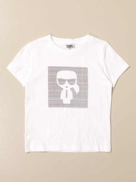 Karl Lagerfeld Kids cotton t-shirt with Karl logo