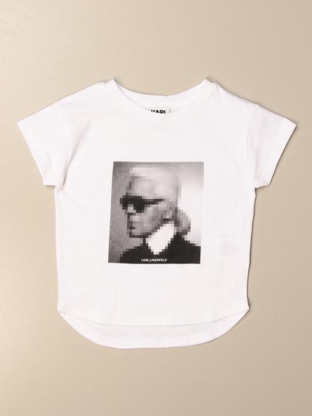 Karl Lagerfeld: Karl Lagerfeld Kids cotton T-shirt with Karl print