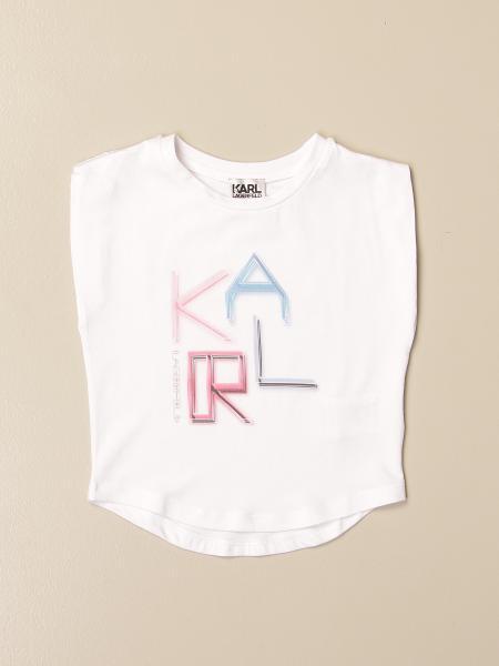 Karl Lagerfeld: Karl Lagerfeld Kids cotton t-shirt with big logo