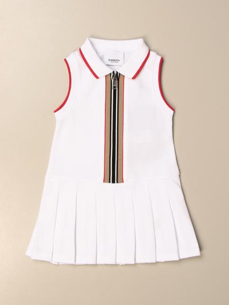 Burberry cotton dress with striped pattern