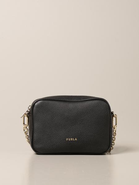 Furla: Furla camera bag in grained leather