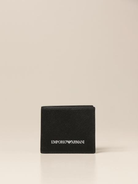 Emporio Armani wallet in recycled saffiano leather