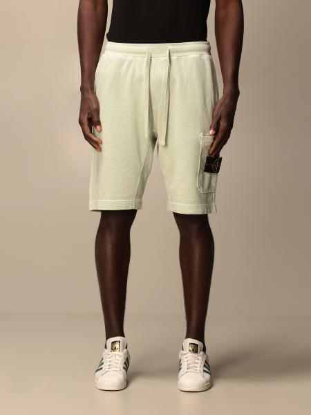 Stone Island jogging shorts in cotton with logo